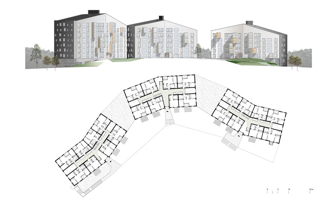 Thumbnail Puukuokka Housing Block / 10